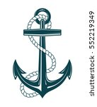 Nautical Anchor With Rope....