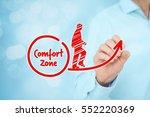 leave your comfort zone ... | Shutterstock . vector #552220369