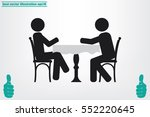 people at the table  interior... | Shutterstock .eps vector #552220645