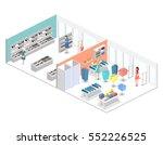 isometric interior of shopping... | Shutterstock .eps vector #552226525