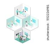 isometric flat interior of... | Shutterstock .eps vector #552226981