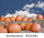 Pumpkin On Straw Bales