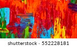 abstract oil painting. art... | Shutterstock . vector #552228181