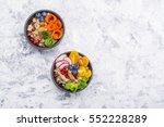 vegetarian quinoa bowl. healthy ... | Shutterstock . vector #552228289