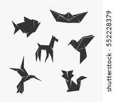 origami vector symbol | Shutterstock .eps vector #552228379