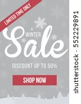winter sale mobile banner.... | Shutterstock .eps vector #552229891