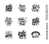 set of handwritten lettering... | Shutterstock . vector #552230191