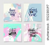 set of four handwritten... | Shutterstock . vector #552230197