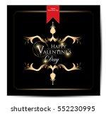 valentines day vintage... | Shutterstock .eps vector #552230995