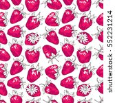 seamless pattern with pink... | Shutterstock .eps vector #552231214