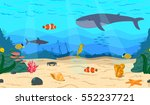 the bottom of the sea. the... | Shutterstock .eps vector #552237721