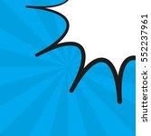 comic pop art blue background... | Shutterstock .eps vector #552237961