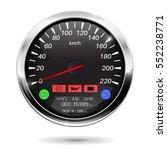 speedometer on car computer. 3d ... | Shutterstock . vector #552238771