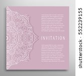 invitation or card template... | Shutterstock .eps vector #552239155