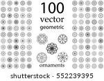 100 set abstract geometric... | Shutterstock .eps vector #552239395