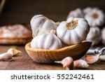 Garlic. Garlic Cloves And...