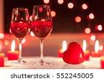 romantic date setting.  | Shutterstock . vector #552245005