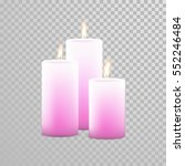 romantic pink candle flame... | Shutterstock .eps vector #552246484