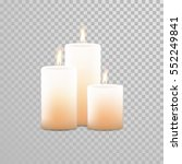 burning candles set. aromatic... | Shutterstock .eps vector #552249841