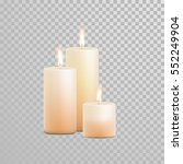 vector candles with burning... | Shutterstock .eps vector #552249904