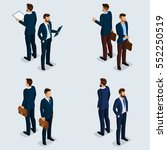 trend isometric people set 1 ... | Shutterstock .eps vector #552250519