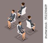 trend isometric people set 2 ... | Shutterstock .eps vector #552250609