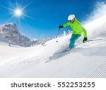 skier skiing downhill during... | Shutterstock . vector #552253255