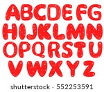 english alphabet from red... | Shutterstock .eps vector #552253591