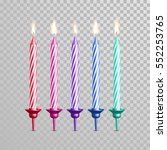 Birthday Cake Candles. Vector...