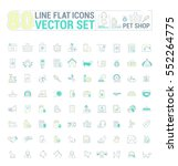 vector graphic set. icons in... | Shutterstock .eps vector #552264775