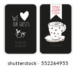 coffee discount card. template... | Shutterstock .eps vector #552264955