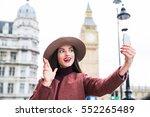 portrait of beautiful young...   Shutterstock . vector #552265489