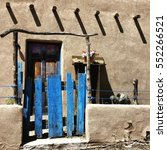 Small photo of New Mexico adobe house