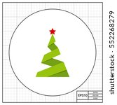 paper christmas tree icon   Shutterstock .eps vector #552268279