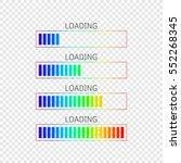 set of vector progress bars... | Shutterstock .eps vector #552268345