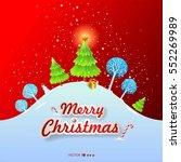 merry christmas landscape.... | Shutterstock .eps vector #552269989