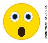 surprised emoticon with big... | Shutterstock .eps vector #552273427
