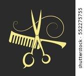 scissors and comb beauty salon... | Shutterstock .eps vector #552275755