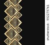 vector geometric frame in greek ... | Shutterstock .eps vector #552275761