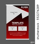 newsletter corporate vector... | Shutterstock .eps vector #552276289