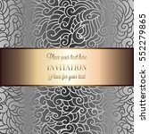 abstract background with luxury ... | Shutterstock .eps vector #552279865