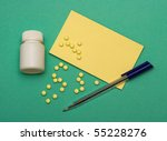 tablets  note paper and pen | Shutterstock . vector #55228276