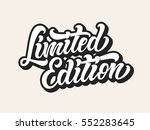 limited edition lettering... | Shutterstock .eps vector #552283645