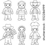 coloring page  set of vector... | Shutterstock .eps vector #552286999