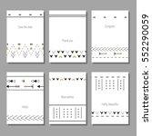 vector illustration set of... | Shutterstock .eps vector #552290059
