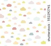 seamless pattern. clouds.... | Shutterstock .eps vector #552292741