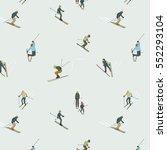 people in ski sport activity.... | Shutterstock .eps vector #552293104