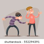 thief steals a purse from... | Shutterstock .eps vector #552294391