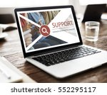 support service contact us... | Shutterstock . vector #552295117
