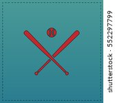 baseball red vector icon with... | Shutterstock .eps vector #552297799